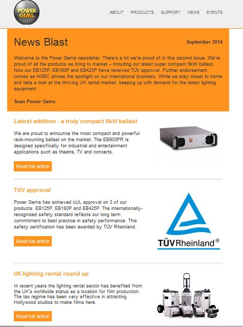 Power Gems newsletter created by Words Are Everywhere, Sept 2014