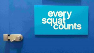 Every Squat Counts sign at The Gym Group