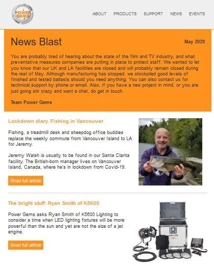 Newsletter written by Gill Booles Edinburgh writer for Power Gems